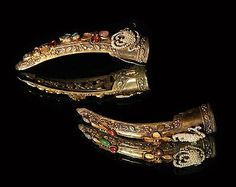 Fingernail Guards 19th century (late Qing Dynasty). China. Collected & donated by Mrs Dickson, MAA 1929.451