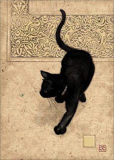 "art-centric: "" Jane Crowther - Black Cat """