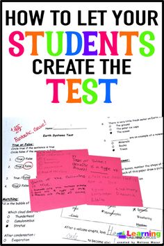 """""""Trick"""" your students into learning test-taking skills by having them create the next unit test!"""