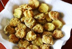 Fried Pickles!  Yum   I tried dill spears too     Try this with apple slices (flour only)