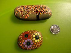 PAINTED BEACH STONES / Pebble Art / Dot Painted by NatureParadise, $29.99