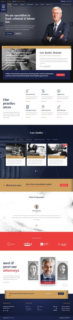 Lawyer, Law Firm, Attorney Business Joomla Template