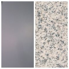gray cabinets, impala white granite