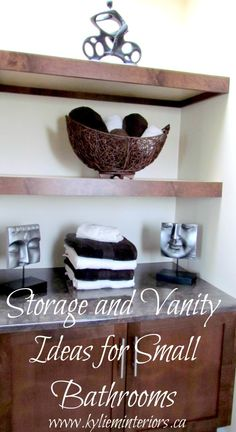 How to Decorate a Small Bathroom - Vanity and Storage Ideas. Kylie M. interior.