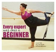 Every expert was once a beginner. I modify at my ability to help me challenge myself to grow and get better. Follow my journey on Youtube at Coach Tulin CLICK PICTURE to subscribe #plussize #yoga #piyo #plussize