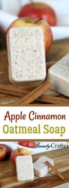 Apple Cinnamon Oatmeal Soap Recipe DIY , easy fall craft that is great for gifting! Apple Cinnamon Oatmeal Soap Recipe DIY , easy fall craft that is great for gifting! Apple Cinnamon Oatmeal, Oatmeal Soap, Cinnamon Apples, Diy Savon, Easy Fall Crafts, Soap Making Supplies, Homemade Soap Recipes, Soap Making Recipes, Castile Soap Recipes