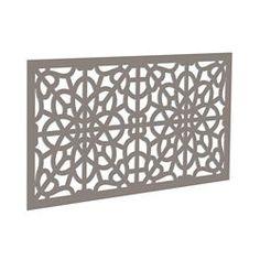 Decorative screen panel 2x4 - fretwork - greige Home Depot, Lowes Home Improvements, X 23, Plastic Lattice, Decorative Screen Panels, Vinyl Railing, Porch Railings, Deck Skirting, Outdoor Screens