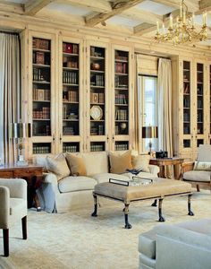 20 Insanely Chic Home Libraries That Made Our Jaws Drop to the Floor. Get lost for hours in your dream home library. Home Design, Home Library Design, Interior Design, Design Ideas, Library Ideas, Beautiful Space, Beautiful Homes, Beautiful Library, Dream Library