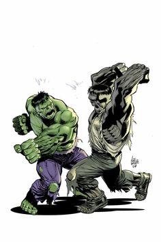 Hulk vs Hulk by Lee Weeks