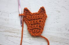 Repeat Crafter Me: F is for Fox: Crochet Fox Applique