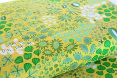 Flower Carpet in Green  Forest Meadow Colorway  by FabricCadabra
