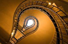 "Staircase-""Bulb"" by Alexey Grachev Prague, Views Album, Stairs, Bulb, Unique, Mirror, Architecture, Inspiration, Furniture"