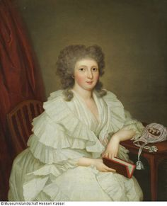 Caroline Juliane Albertine von Schlotheim, spätere Gräfin von Hessenstein Künstler: Wilhelm Böttner (1752 - 1805) Datierung: 1793