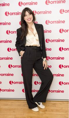 Daisy Lowe has said she and Louise Redknapp have been one another's 'cheerleaders' for the past 12 months - a time that has seen Louise's marriage to footballer Jamie seemingly falter. Louise Redknapp, Daisy Lowe, Lorraine, Lowes, Harem Pants, Autumn Fashion, Tv Shows, Jumpsuit, Style Inspiration