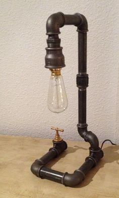 Lampe usine steampunk de la boutique lifestyle66 sur Etsy