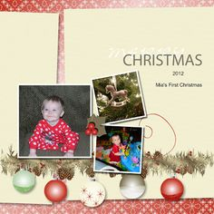 Christmas Scrapbook Page 1