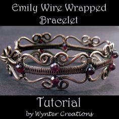Learn to create a romantic, Victorian-inspired bracelet that's as easy to wear as it is beautiful with this tutorial from designer Anna Moore Roberts of Wynter Creations. This design incorporates a number of useful techniques, including two types of wire weaving, a decorative clasp, and a unique hinged construction that makes the bracelet especially easy to put on and take off. With 32 clear, easy-to-follow steps and over 70 illustrative photos, this tutorial follows the design in detail fro