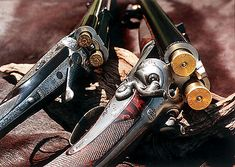 Pair of Holland and Holland doubles (500/465 Nitro Express and a 4 bore). - http://www.RGrips.com