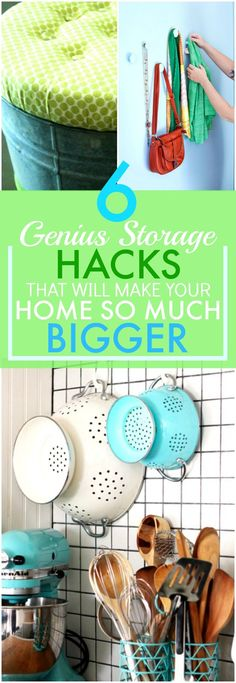These 6 brilliant storage ideas have made my home look A TON bigger! I'm so glad I found this AWESOME post! I found a ton of great resources and now I don't feel so cramped in my small space. I am DEFINITELY pinning for later!