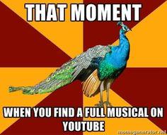 Thespian Peacock via Meme Generator