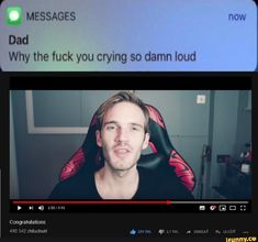 Why the fuck you crying so damn loud - iFunny :) Markiplier Memes, Pewdiepie Fan Art, Pewdiepie Funny, Stupid Funny, Haha Funny, Funny Jokes, Marzia And Felix, Youtube Memes, Humor