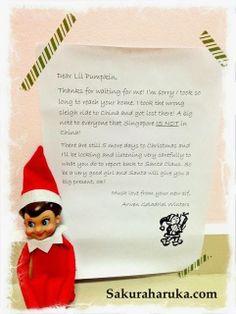 Elf On The Shelf  Letter Explaining Late Arrival  Christmas