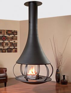 #JCBordelet Elsa 999 Suspended #Woodburning #Stove - Now available from www.fireplaceproducts.co.uk