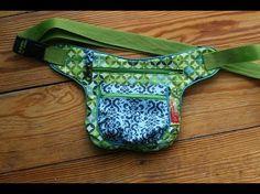 """Schnabelina sewing hip-bag with free sewing pattern # Video von """"Das .- Hip-Bag von Schnabelina nähen mit kostenlosem Schnittmuster # Video von """"Das … Schnabelina hip-bag sewing with free … - Bag Pattern Free, Wallet Pattern, Bag Patterns To Sew, Sewing Patterns Free, Free Sewing, Fanny Pack Pattern, Pattern Sewing, Money Belt, Sewing Hacks"""