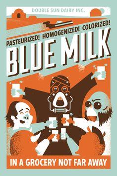 "Ryan Brinkerhoff ""Blue Milk"" Print"