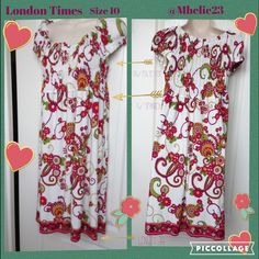 ⚡️ FLASH SALE ⚡️London Times 10 ⚡️ Pretty Summer Paisley dress 95% polyester 5% Spandex elastic at the bust area length 38 Dresses