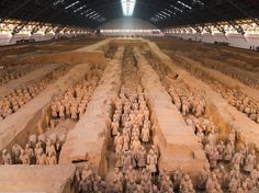CHINA BE AWESTRUCK BY THE TERRA-COTTA WARRIORS OF XIAN Chinas first ruler, the great emperor Qin Shi Huang, not only began construction on the Great Wall, but hes also responsible for the terra-cotta warriors of Xian.