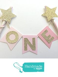 Pink Ombre and Gold Cake Topper. Twinkle Twinkle Little Star Glitter Party Decoration. from Paper Trail by Laura B. http://www.amazon.com/dp/B019D8OICK/ref=hnd_sw_r_pi_awdo_piuJwb1FZ19HK #handmadeatamazon