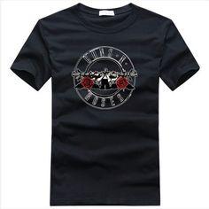 Guns N' Roses Classical Rose logo t shirt - Tshirtsky