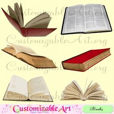 Book Clipart Digital Book Clip Art Realistic Old Open Book Bible Clipart Images Dusty Book Scrapbook Printable Brown Reading Book Graphics (2.99 USD) by CustomizableArt