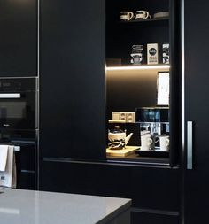 Great Ideas For Your Home Lights. Kitchen Art, Home Decor Kitchen, Kitchen Interior, Interior Design Living Room, Kitchen Design, Kitchen Cabinets, Black Kitchens, Home Kitchens, Coffee Station Kitchen