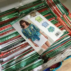 Our large delivery of sewing patterns has now been sorted and this is our enticing basket of New Look adult dressmaking patterns. So much to choose from - what will you make?