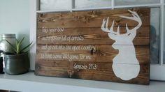 Rustique de Buck et de Bible verset signe de par RusticityGoods