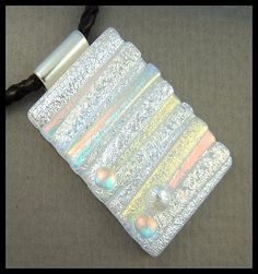 Original dichroic glass pendant..Pick Up Stix..SRA | silvermoonlyn - Jewelry on ArtFire