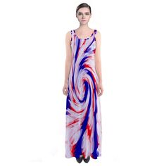 Red white blue Patriotic Maxi Dress #cowcow #usa #fashion #style #trends