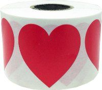"""1.5 Inch Red Heart Stickers ---- Large heart stickers are needed for """"Peter"""" - 2s - week 3 AND """"Who Can I Tell? - 3-5s - week 2"""