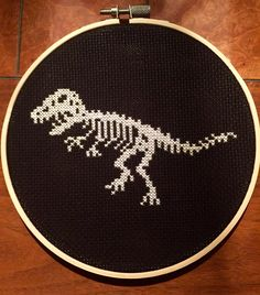 Dinosaur skeleton cross stitch                                                                                                                                                                                 More                                                                                                                                                                                 More