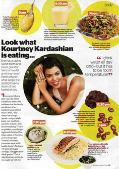 Look what Kourtney Kardashian is eating Magazine article