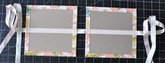 Step by step from the start making your own chip board album and decorating.