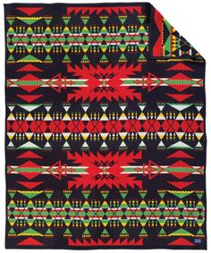 The Pendleton Canyon Diablo Blanket is a Native-American inspired blanket that features colors that are reminiscent of the Canyon Diablo. Pendleton Woolen Mills, Pendleton Blankets, Mountain Cabin Decor, Textiles, Wool Blanket, Textures Patterns, Tribal Rug, Collection, Cowboy Room