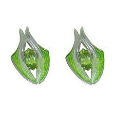 Peridot Earrings in Sterling Silver https://www.goldinart.com/shop/earring/colored-gemstone-earrings/peridot-earrings-in-sterling-silver #PeridotEarrings, #SterlingSilver