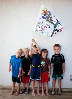 Creating a flag or banner together could be a fun craft or team building activity
