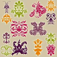 damask 3 color