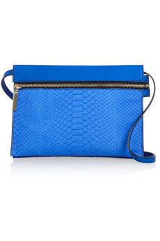 Victoria Beckham Python and textured-leather shoulder bag | NET-A-PORTER @gtl_clothing #getthelook http://gtl.clothing