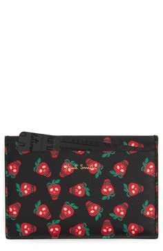 Paul Smith Strawberry Skull Card Case available at #Nordstrom