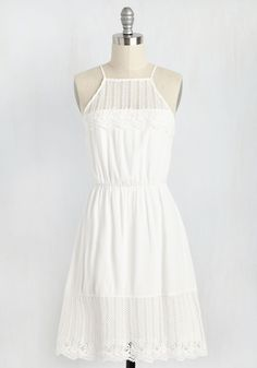 You Meringue? Dress. Debut your confections at the bake sale in this white sundress, and calls will come pouring in for counsel on your fashionable flavor! #white #modcloth